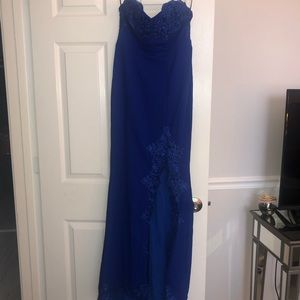 Hello Molly Svelte Maxi Dress (Cobalt)